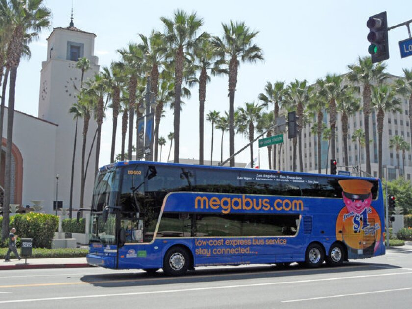 Megabus, which had service to Los Angeles in 2007, plans to relaunch a hub at Union Station next month.
