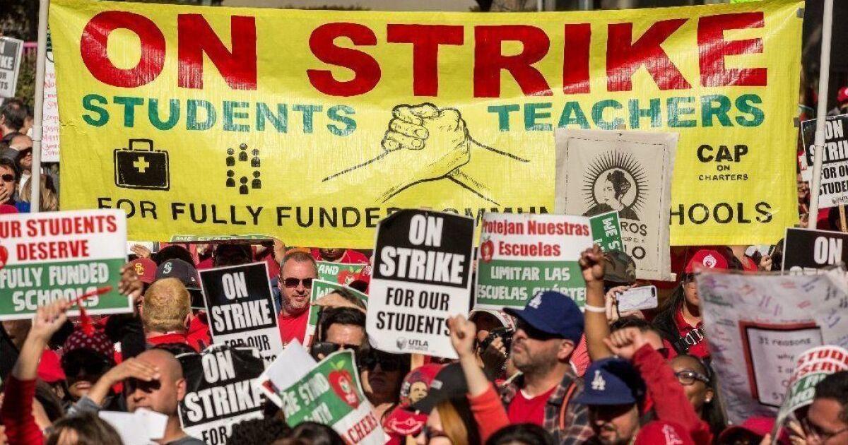 L. A. Lehrer Streik geschürt einer Arbeiterbewegung. Aber es Tat wirklich helfen Schulen?