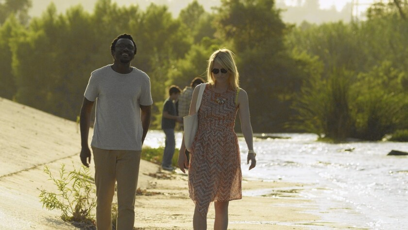 Anthony Okungbowa's and Mamie Gummer's characters fall in love in the L.A. enclave.