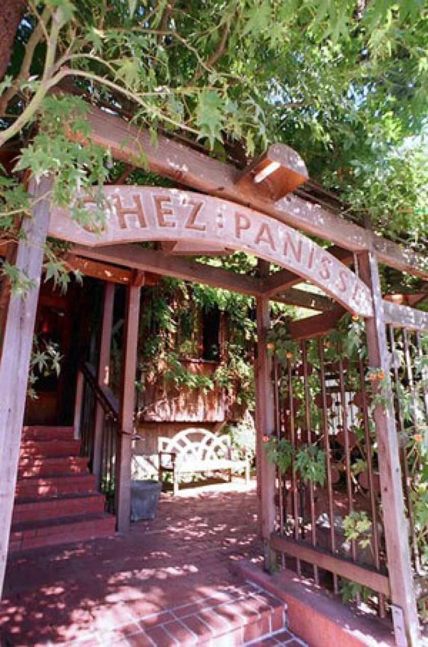 The highly regarded Chez Panisse in Berkeley is 40 years old.