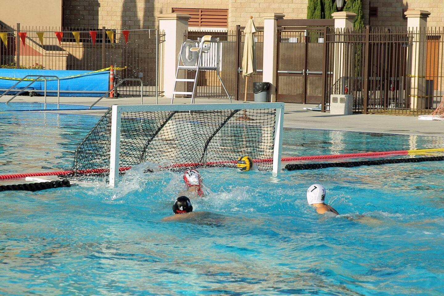 CCA water polo makes a goal in their game against Classical Academy HS