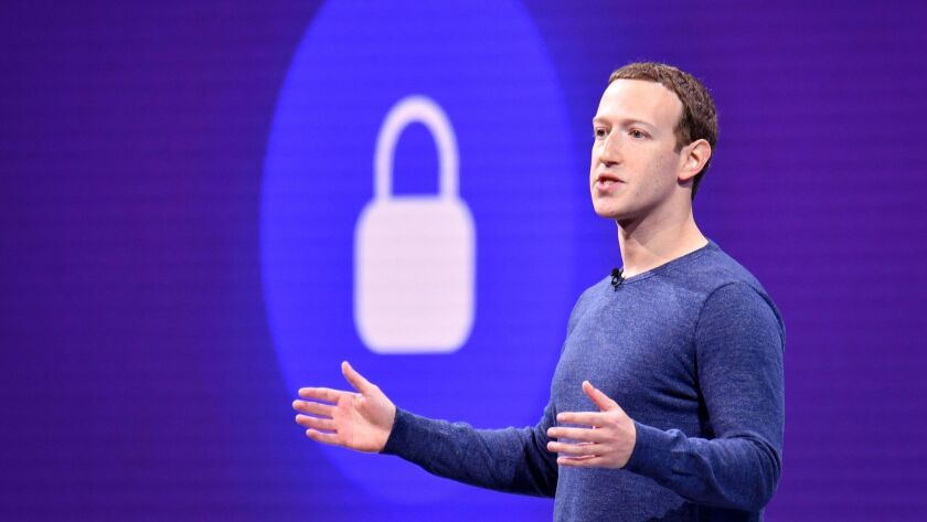Mark Zuckerberg, shown speaking in 2018, wrote in a blog post that Facebook will rebuild many of its features for a privacy-focused platform.