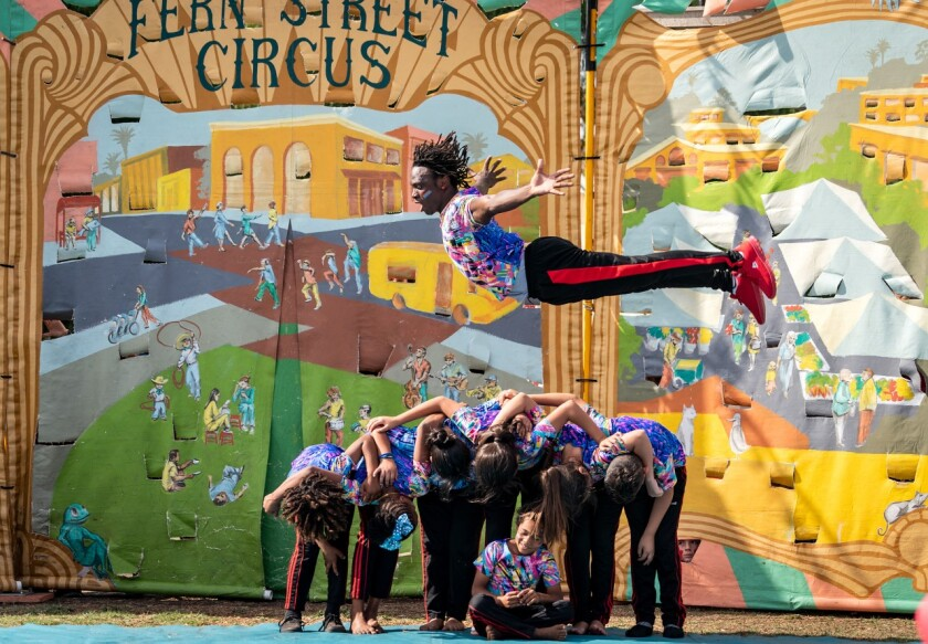 A photo of Fern Street Circus Neighborhood Tour
