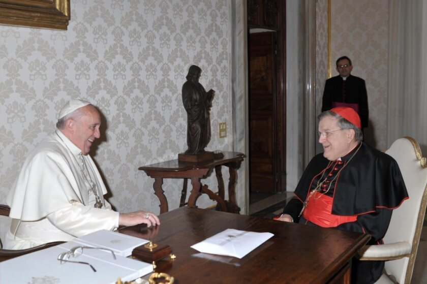 Pope Francis and Raymond Burke