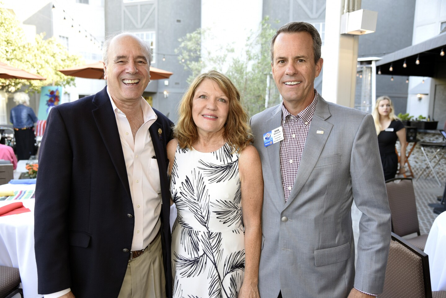 Past President/Immediate Past District Governor District 5340 Steve Weitzen, President/event chair Vicky Mallett, District Governor District 5340 Dan Gensler