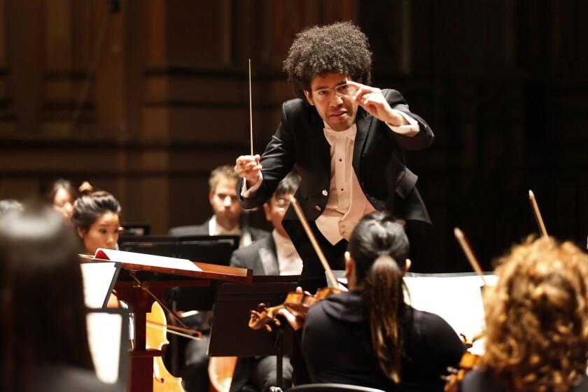 Rafael Payare, the San Diego Symphony's music director.