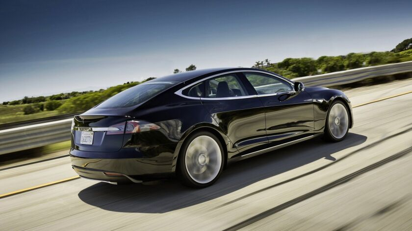 The 2013 Tesla Model S. The company is recalling all Model S cars built before April 2016.