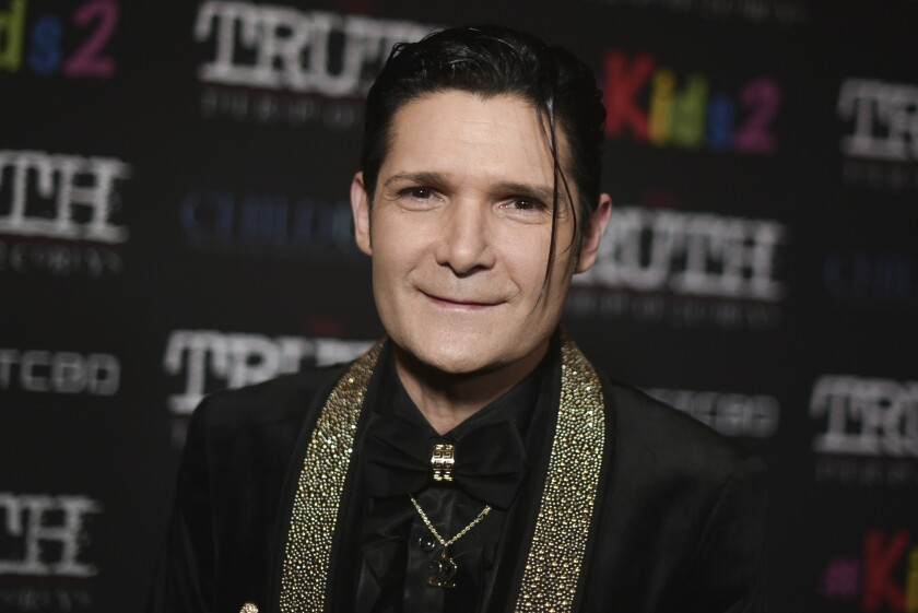 Corey Feldman attends the L.A. premiere of his new film Monday night at the Directors Guild of America.
