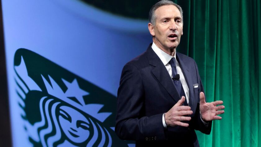 Starbucks Chairman and Chief Executive Howard Schultz.