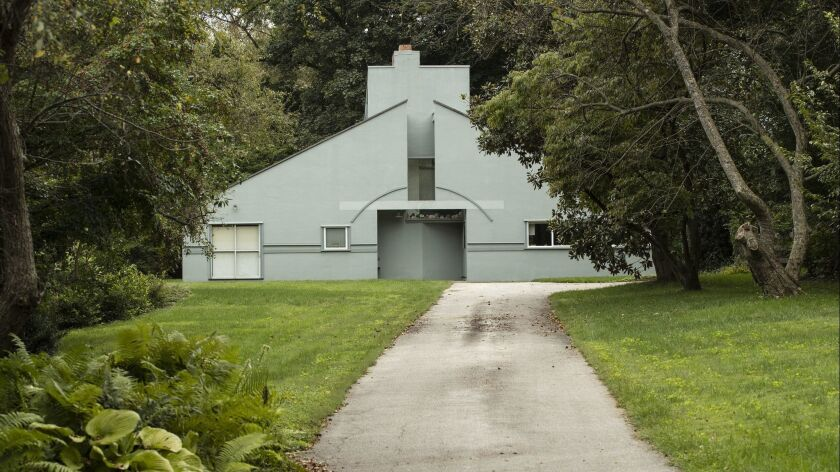 The Vanna Venturi House, designed by architect Robert Venturi for his mother, is seen in the Chestnu