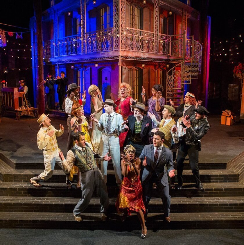 """Glenn Howerton (center) and the ensemble of the Old Globe Theatre's """"The Comedy of Errors."""""""