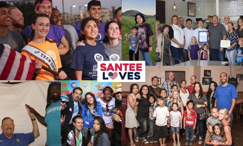 """A group called """"SanteeLOVES"""" is holding a car rally on Wednesday, May 27, starting at 4 p.m. at Town Center Community Park and ending at 5:30 p.m. at City Hall that it hopes will promote tolerance and inclusion."""