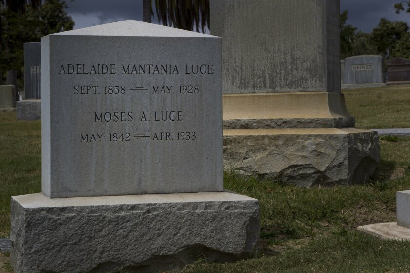 Moses A. Luce served as a Union sergeant in the Civil War before becoming a civic leader in San Diego. He is buried at Greenwood Cemetery.