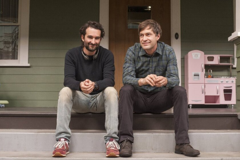 "Jay and Mark Duplass at the Eagle Rock house setting in HBO's recently canceled ""Togetherness."""