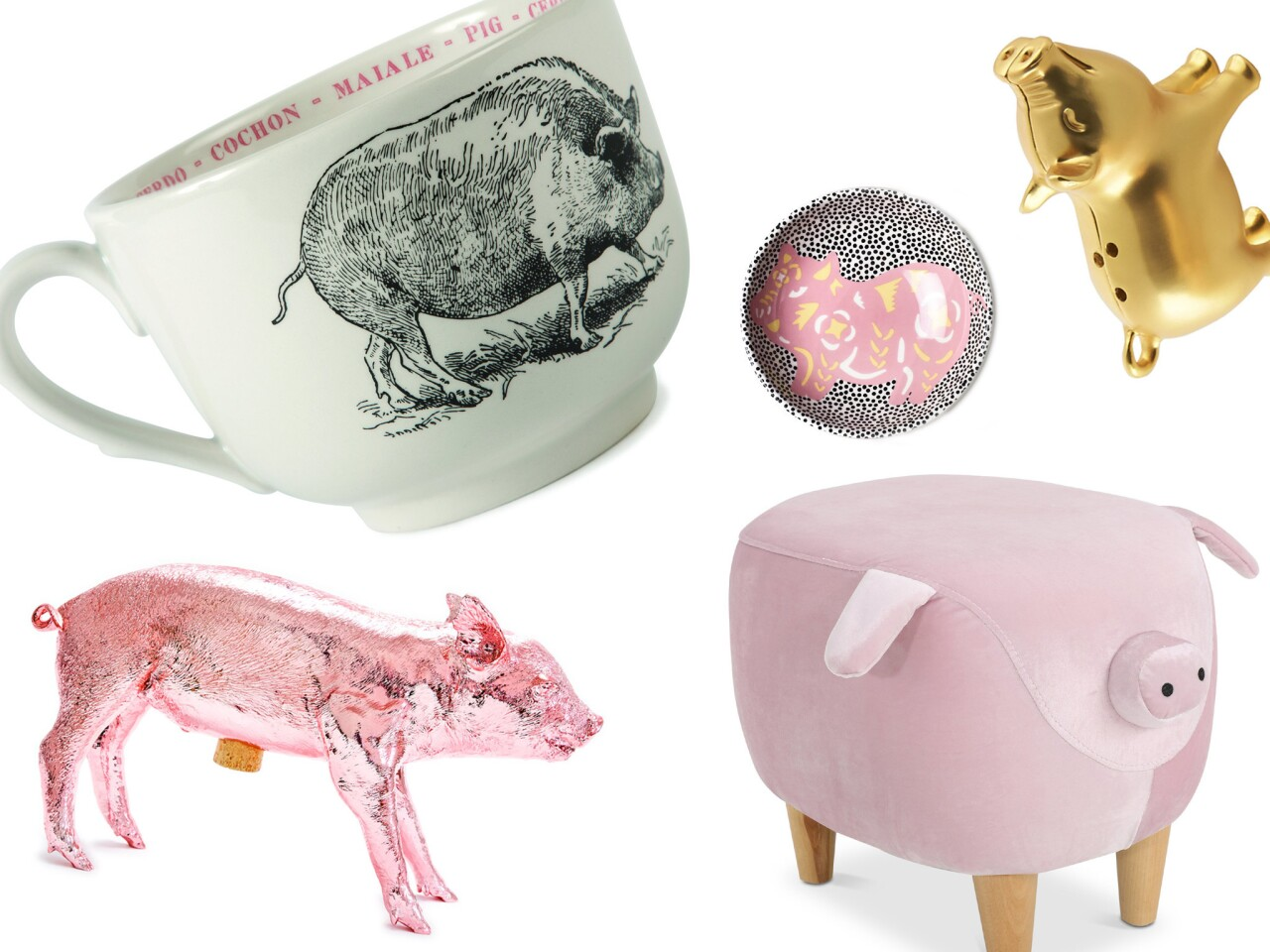 Consider decorating your home with these items inspired by the Year of the Pig.