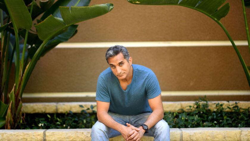 Bassem Youssef was once known as the Jon Stewart of Egypt. After fleeing his native country, he has