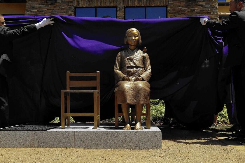 'Comfort women' statue in Glendale