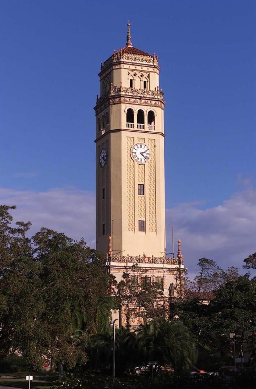 El edificio Torre Norte del recinto en Río Piedras de la Universidad de Puerto Rico será remodelado tras casi medio siglo de historia como residencia en la vida de miles de estudiantes y a raíz de los severos daños por el huracán María el 20 de septiembre pasado. EFE/UPR/USO EDITORIAL SOLAMENTE/NO VENTAS