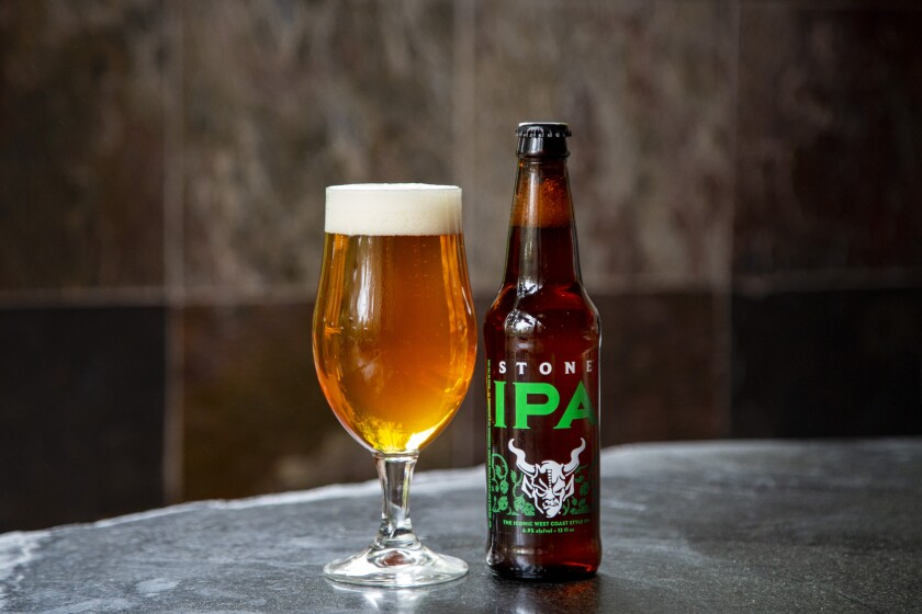 Stone IPA, available in bottles and on tap at Stone Brewing Tap Room in East Village