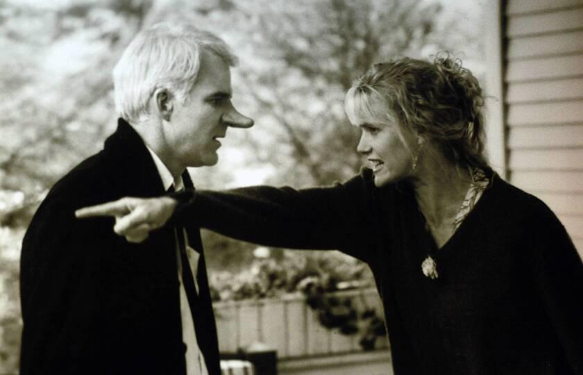 "Steve Martin and Daryl Hannah star in the 1987 movie ""Roxanne."""