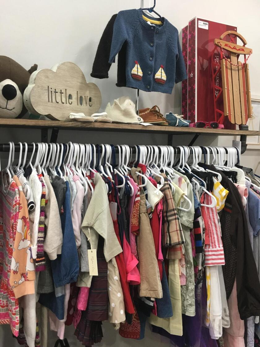 Parents on a budget can choose from hundreds of gently-used designer children's items at Little Love Designer Children's Consignment Boutique in La Jolla.
