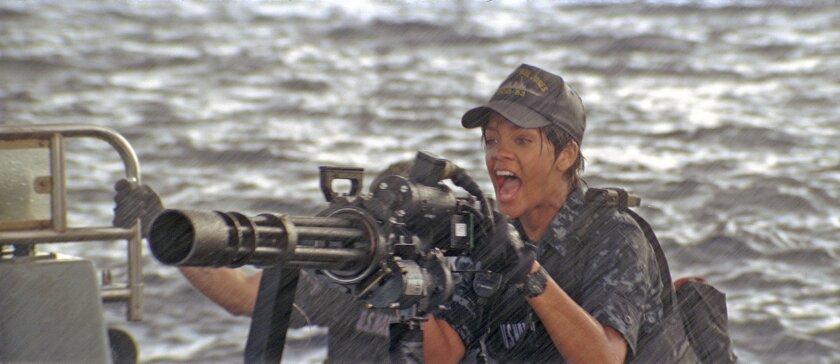 "Rihanna as U.S. sailor Raikes in ""Battleship."""