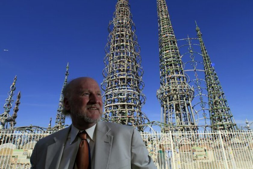 Rocco Landesman, chairman of the National Endowment for the Arts, at Watts Towers in 2012.
