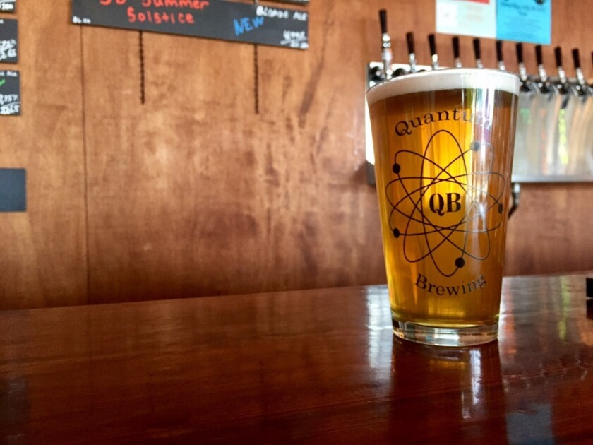 Chain Reaction from Quantum Brewing is a tasty, session IPA that you can enjoy a few of. (Liz Bowen)