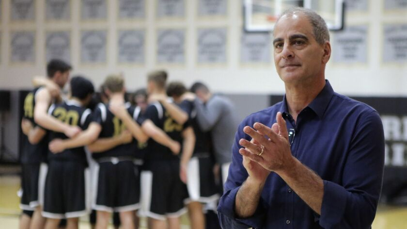 Francis Parker coach Jim Tomey is seeking his 10th San Diego Section boys basketball championship.