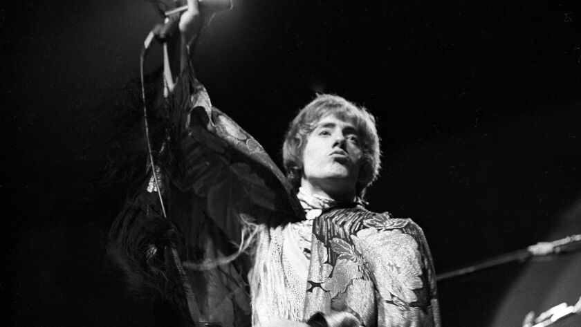 Roger Daltrey of The Who performs on stage at the Monterey Pop Festival on June 18, 1967 in Monterey