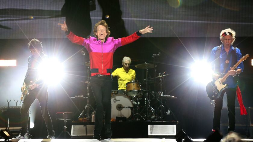 The Rolling Stones perform during October's Desert Trip festival in Indio.