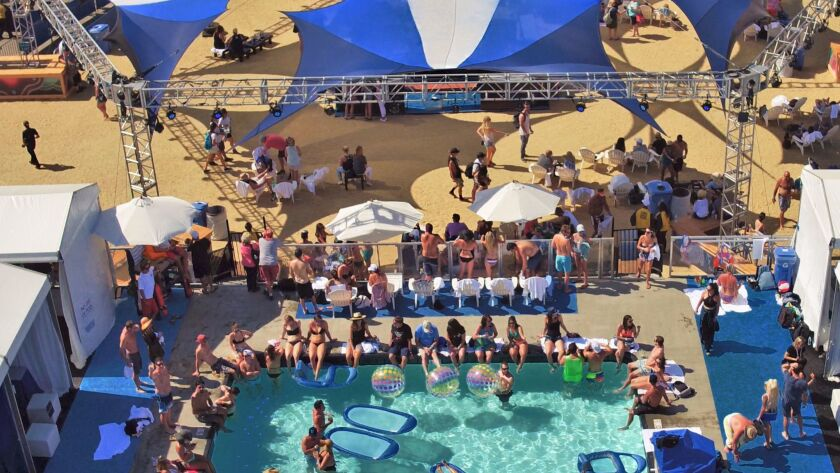 The pool at KAABOO Del Mar overlooks one of the festival's largest outdoor stages.