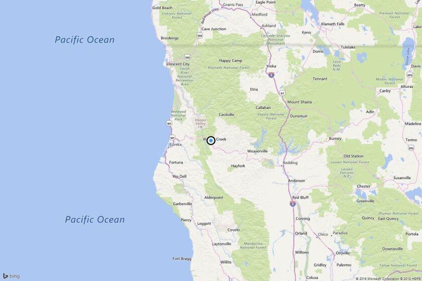 Earthquake: 3.4 quake strikes near Hawkins Bar, Calif.