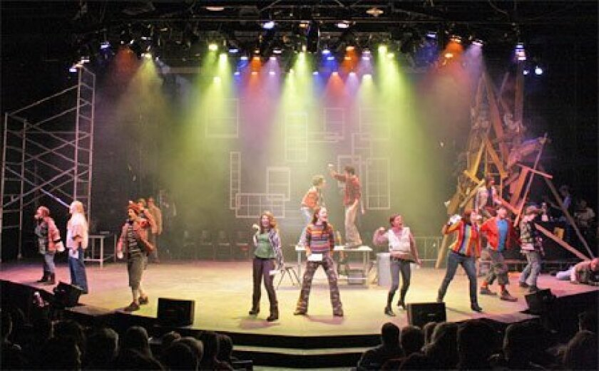 """High schoolers in West Virginia performed """"Rent: School Edition"""" at a  nearby university after the school show was canceled. (New York Times)"""