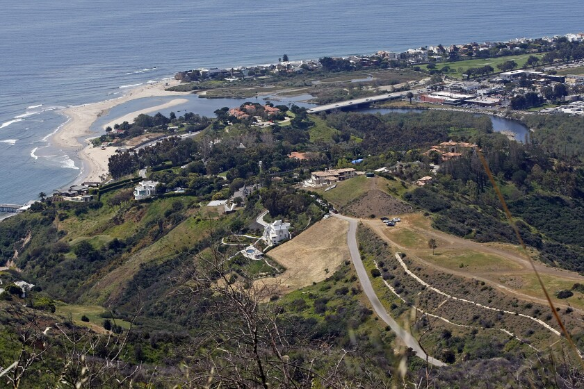 This photo shows the road leading to the Malibu property owned by U2's the Edge.