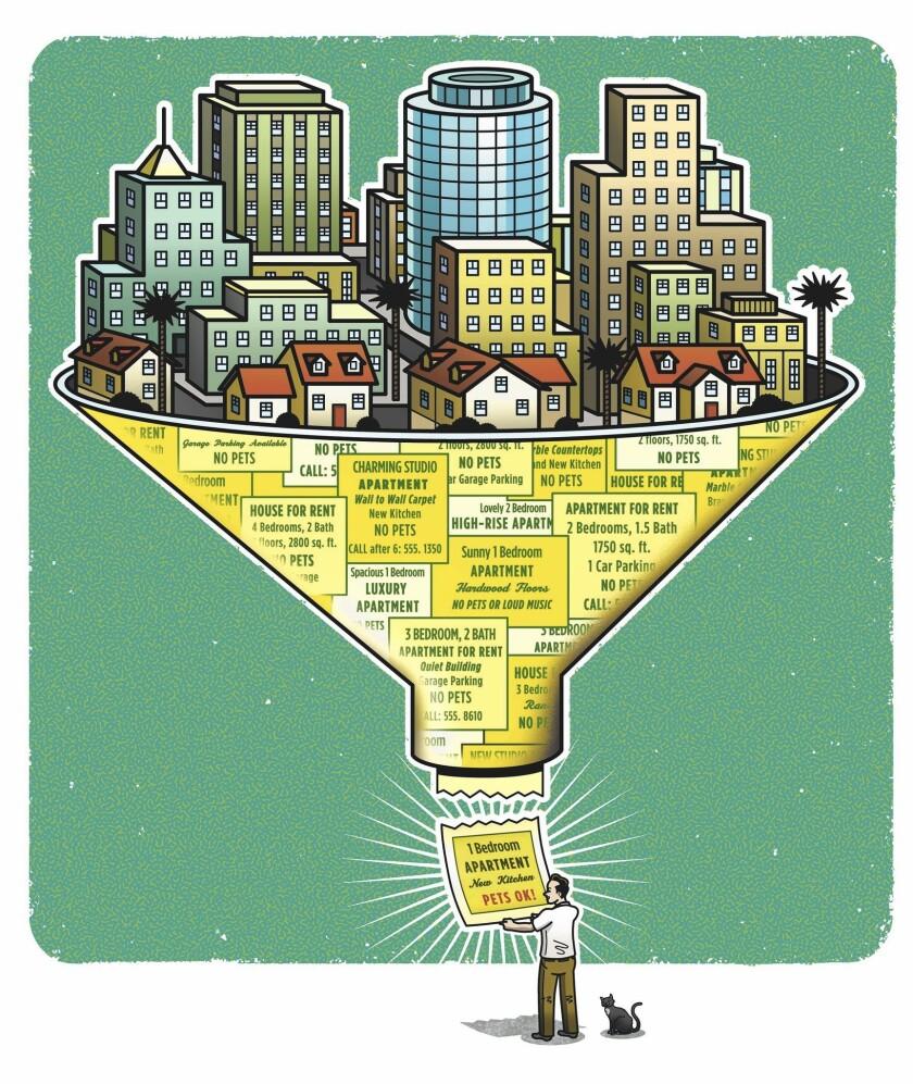 Apps Sites Aim To Transform Apartment Rental Listings Los Angeles Times
