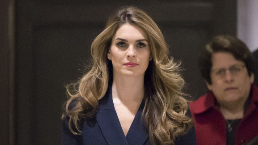 Hope Hicks resigned as White House communications director in February.