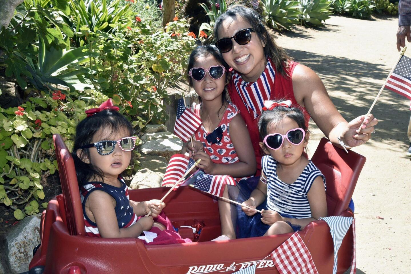 Michelle Silva with Mikaela, Nayeli, and Olivia