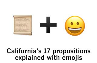 California's 17 propositions explained with emojis