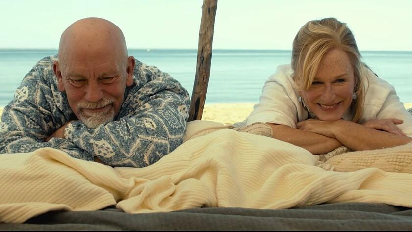 "John Malkovich and Glenn Close in ""The Wilde Wedding."""