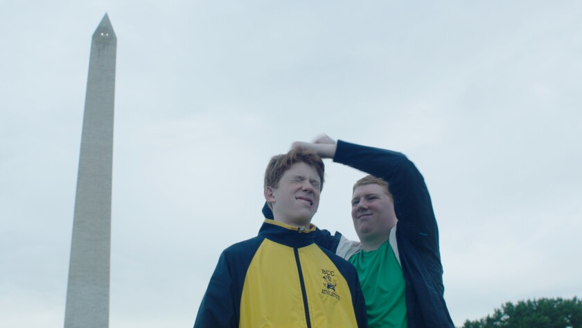 Matthew Mullin, left, and his brother Peter Mullin in the documentary 'Don't Be a Dick About It'