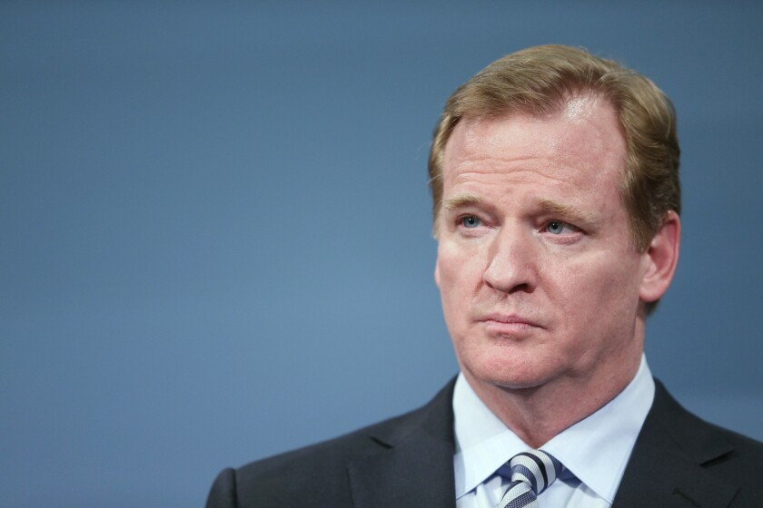 NFL Commissioner Roger Goodell, shown in January, announced several steps Sept. 15 to help deal with domestic violence issues within the league.
