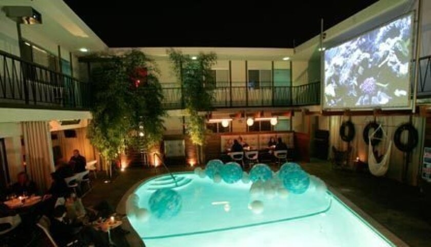 Dive-In Theatre, Wednesday evenings at The Pearl Hotel in Point Loma.