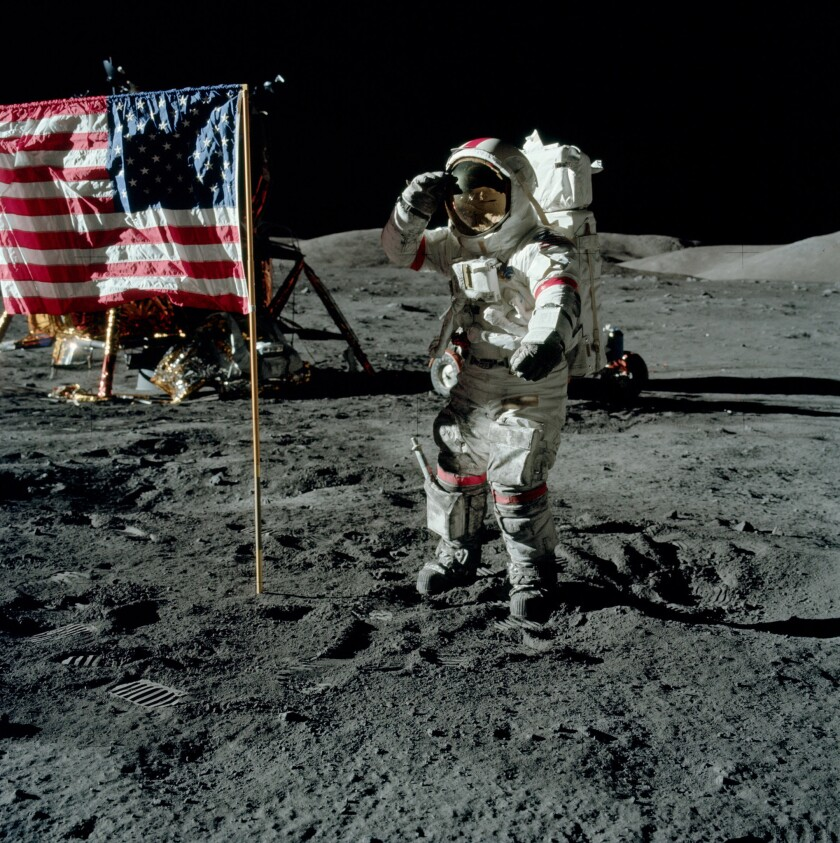 """Apollo 17 commander Eugene Cernan is profiled in the documentary """"The Last Man on the Moon."""""""
