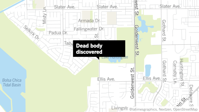 A body was discovered at the oil fields southwest of Talbert Avenue and Edwards Street in Huntington Beach on April 19.