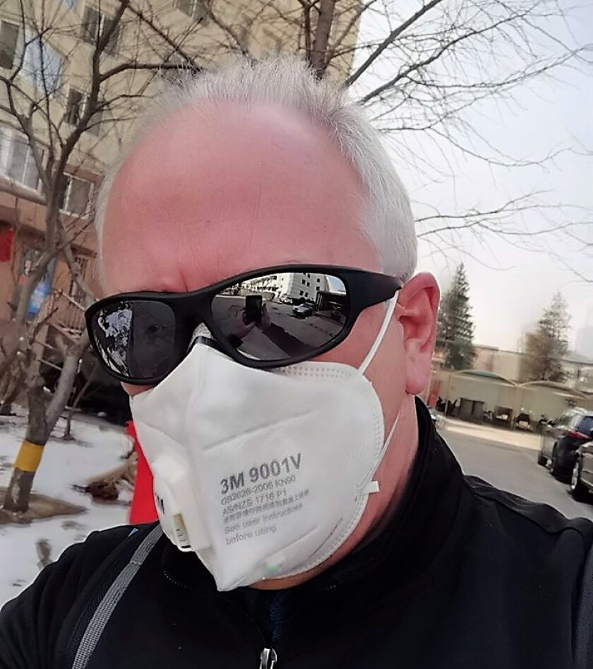 China Daily journalist Jim Healy, who formerly lived in San Diego, is now wearing a surgical mask everywhere he goes in Beijing where he lives and works. In the wake of the deadly coronavirus outbreak, Healy says the protective masks are very difficult to find.