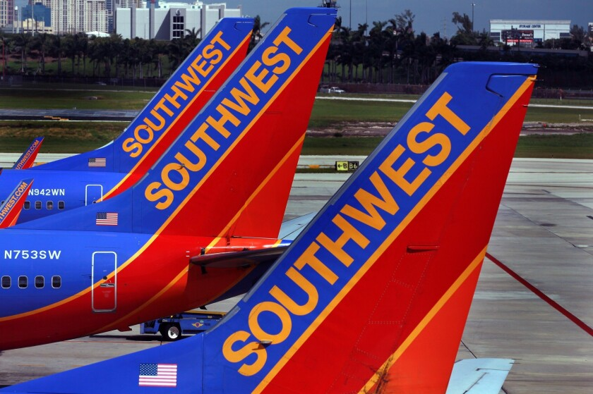 A pair of seniors were unable to use their Southwest Airlines travel credit because of the COVID-19 pandemic.