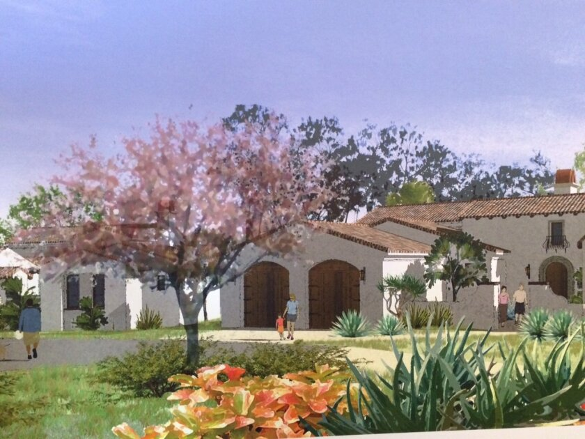 A rendering of The Groves, a five-home step-down housing community proposed by The Inn at Rancho Santa Fe. Photo by Karen Billing