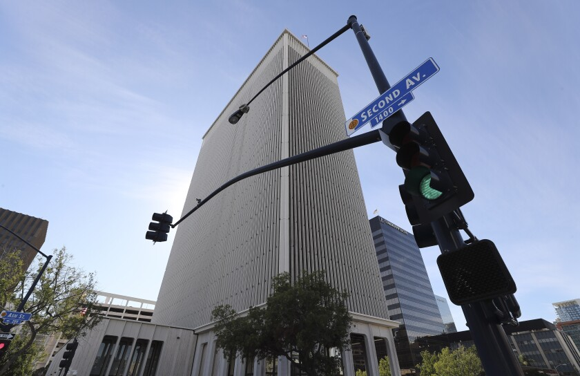 The former Sempra building on Ash Street on Tuesday, December 17, 2019 in San Diego, California.