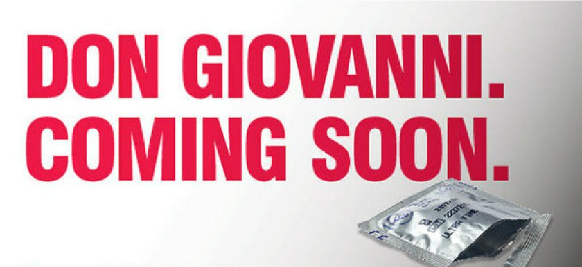 """An advertisement for the English National Opera's production of Mozart's """"Don Giovanni."""""""